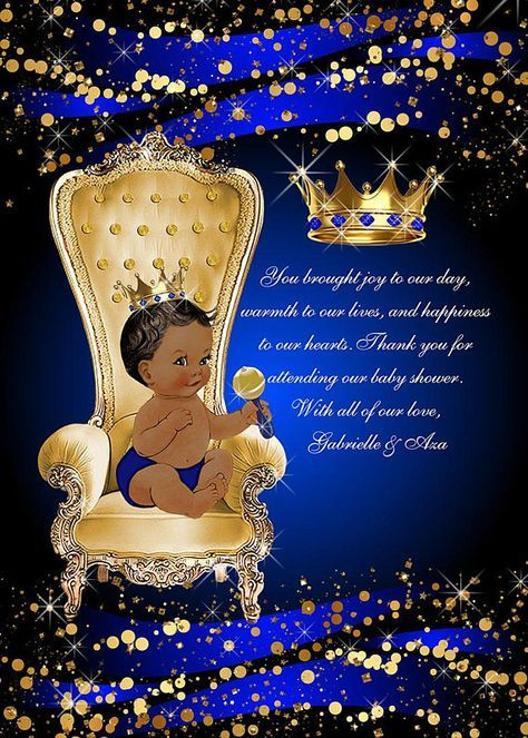 Baby Shower Invitations: This Royal Blue and Gold Prince Baby Shower Invitation will add the perfect elegant touch to any baby shower! MATCHING GAMES CAN BE FOUND HERE: https://www.etsy.com/listing/535235244/baby-shower-games-royal-prince-baby?ref=shop_home_active_1 PRINTED