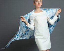 Luxusný hodvábny šál rozmerov 160 x 80 cm - Winter