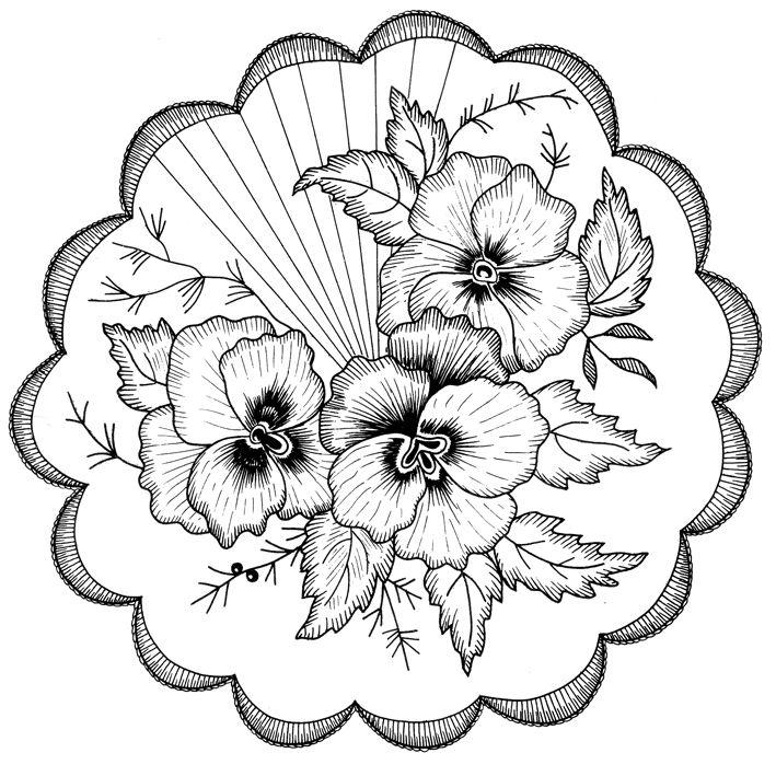Цветы картинка для выжигания