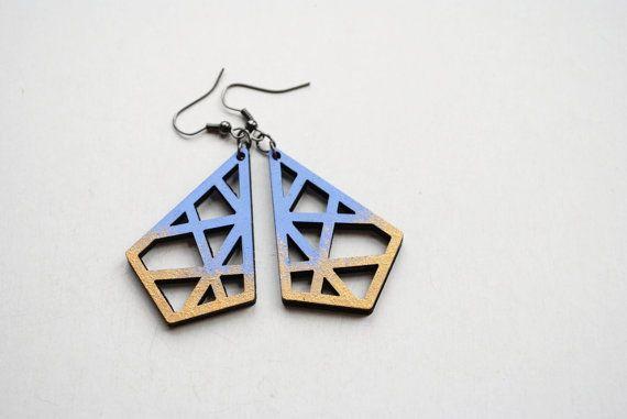 Geometric earrings filigree earrings abstract by elfinadesign