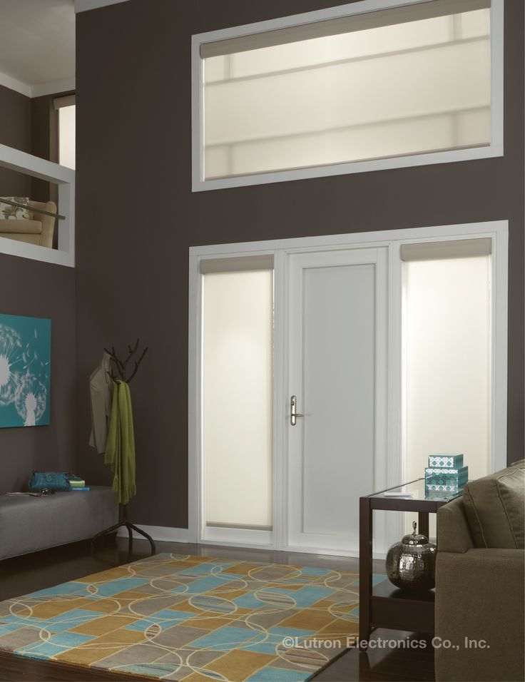 Remote controlled shades make perfect sense for hard-to-reach windows.