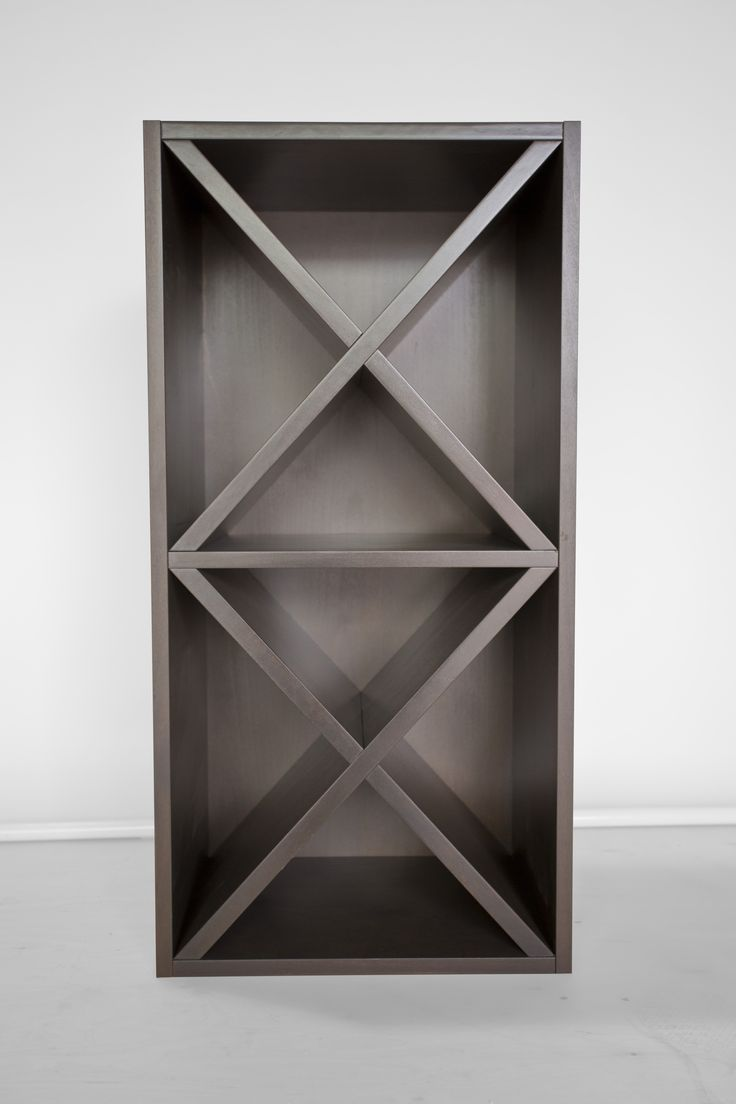 custom x wine rack with custom paint color.
