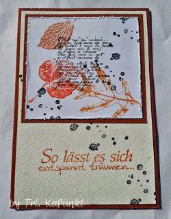 Gwenny´s Blog: Fallende Blätter #stampinup
