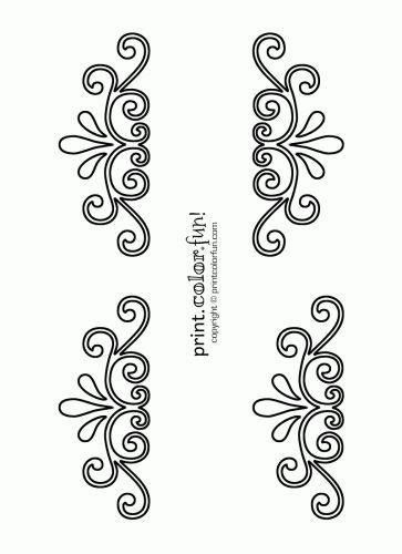 Printable Flower Stencil Patterns   Swirl and flourish stencils   Print. Color. Fun! Free printables ...