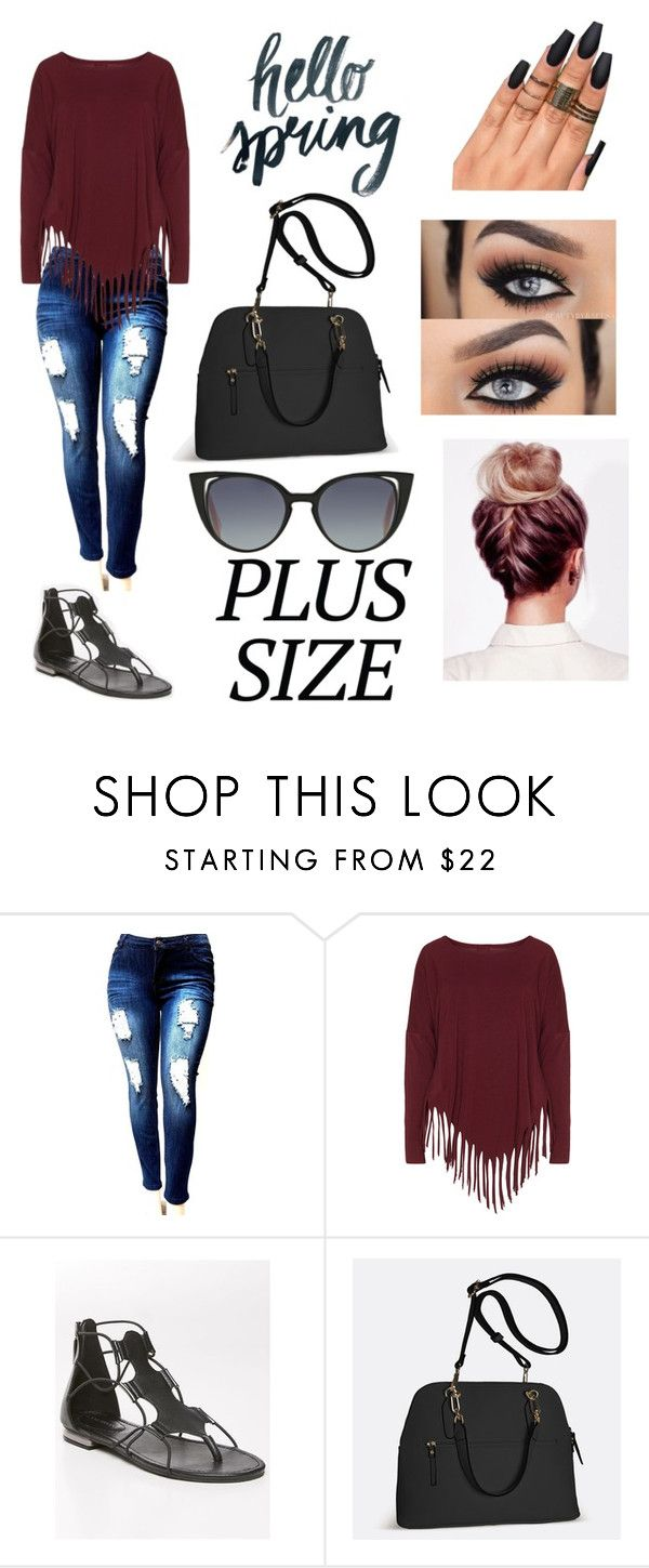 """""""Date Time !"""" by nikolconner ❤ liked on Polyvore featuring Boris, Lane Bryant, Avenue and Fendi"""