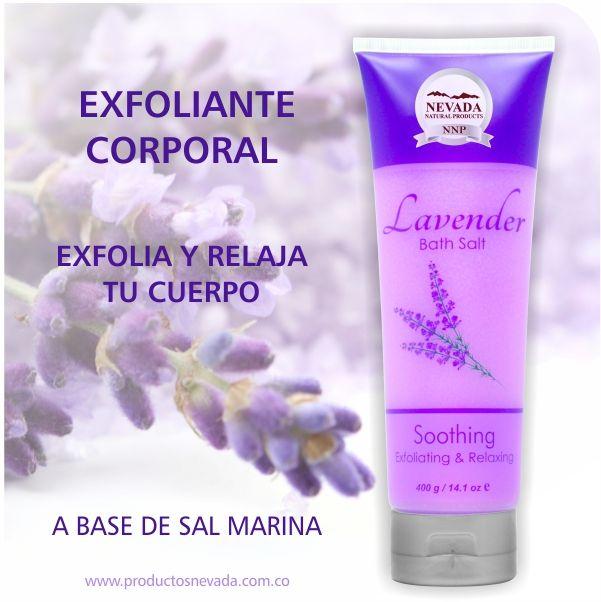 Exfoliante corporal enriquecido con Extractos Naturales como la Lavanda, contiene propiedades antisépticas y suavizantes que brindarán una sensación de limpieza, suavidad y relajación a tu piel.
