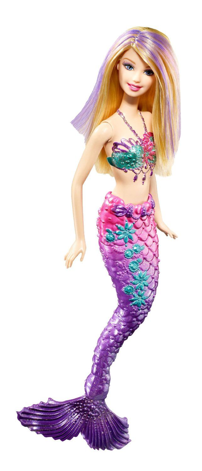 AmazonSmile: Barbie Purple Color Change Mermaid Doll: Toys & Games