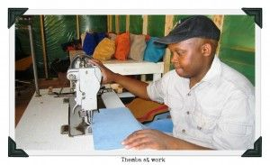 Themba is the Xhosa word for 'hope', an appropriate name for this talented artisan.   #handmadeproducts #giftwithacause #uniquegifts #handbags #giftswithapurpose #uniquegifts #suede #africansuede #suedepurses #inexpensivegifts #