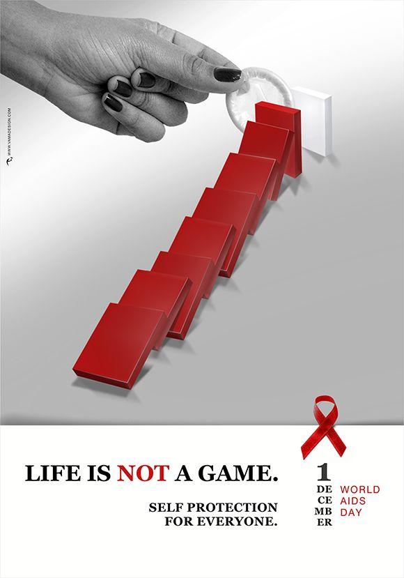 World Aids day Poster, design by Vasilis Magoulas aka VAMADESIGN.
