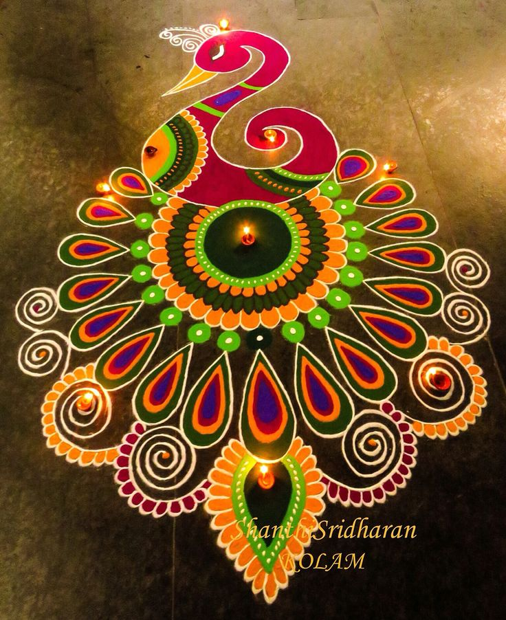 The 25 best ideas about rangoli designs on pinterest for Floor rangoli design