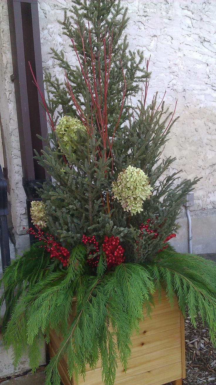 510 best winter containers images on pinterest christmas