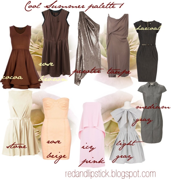 Color me beautiful palette summer dresses