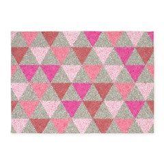 Granite-Like Isosceles Triangles 5'x7'area rug