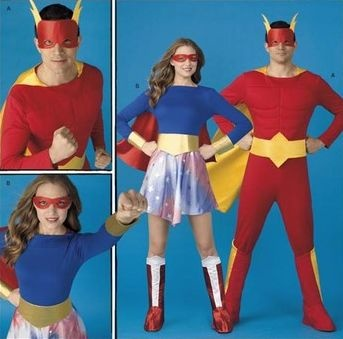 OOP!! SUPER HERO COSTUME Sewing Pattern ~ Adult Superhero Costumes - last one! SOLD!!