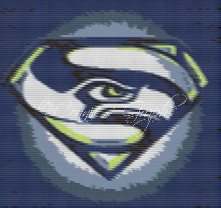 Seahawks CPC Complete Graph Pattern by ConniesCrochetGifts on Etsy