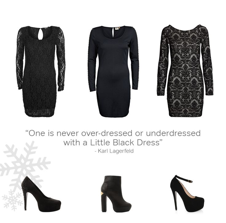 There must be a little black dress in every woman's closet