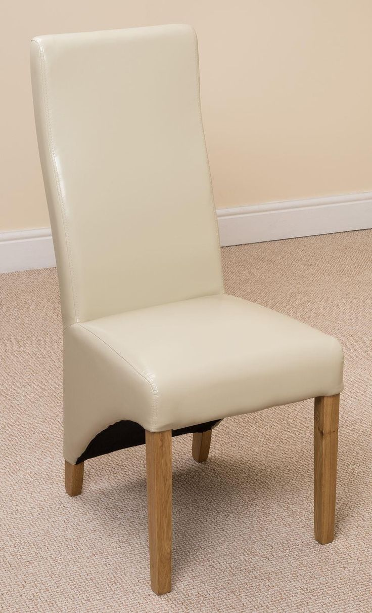 Lola Curved Back Dining Chair Ivory Leather