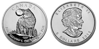 Westminster Mint: 2011 Silver Canadian Timber Wolf Coins