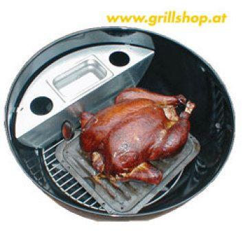 Grill - Smoker für Weber u. Outdoorchef 57 cm Holzkohlegrill - www.grillshop.at