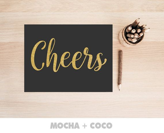 Cheers Celebration Family Printable Poster by MochaAndCoco