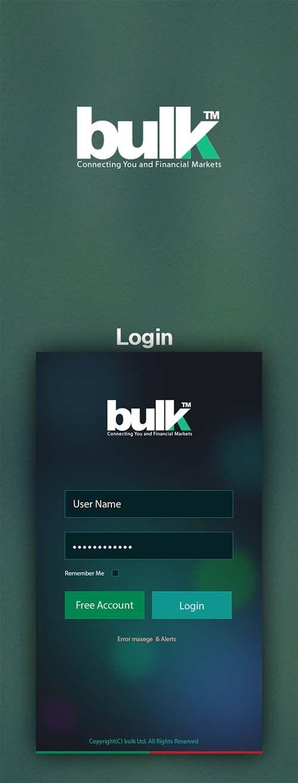 BULk- Stock Market Mobile Application