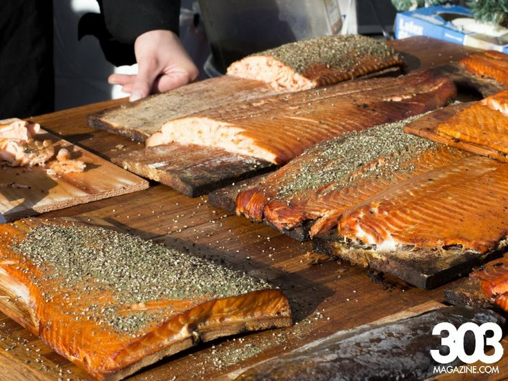 One of the specialties offered at #Denver #Christkindl Market is smoked #salmon. Yummy! #German #Austrian #food at denverchristkindlmarket.com