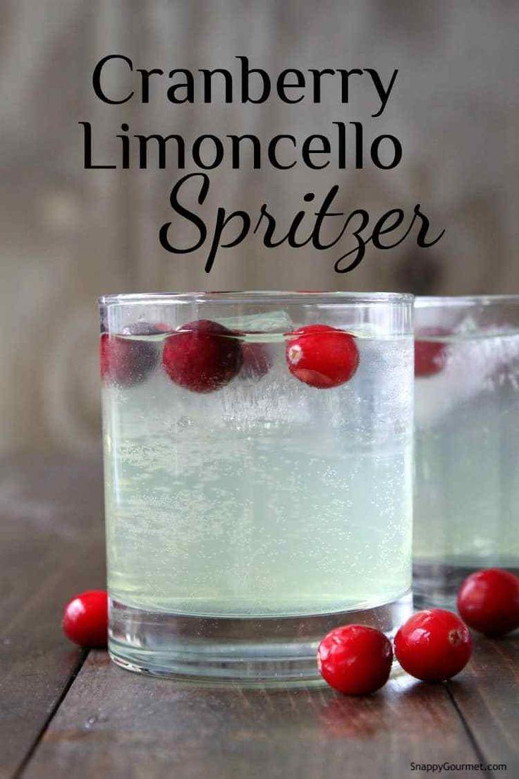 Cranberry Limoncello Spritzer Cocktail Recipe – an easy Limoncello drink recipe….