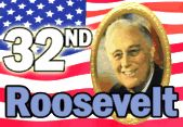 images of the 32nd president of the usa franklin d. roosvelt | 1882 - Franklin Delano Roosevelt, 32nd President, born in New Hyde ...
