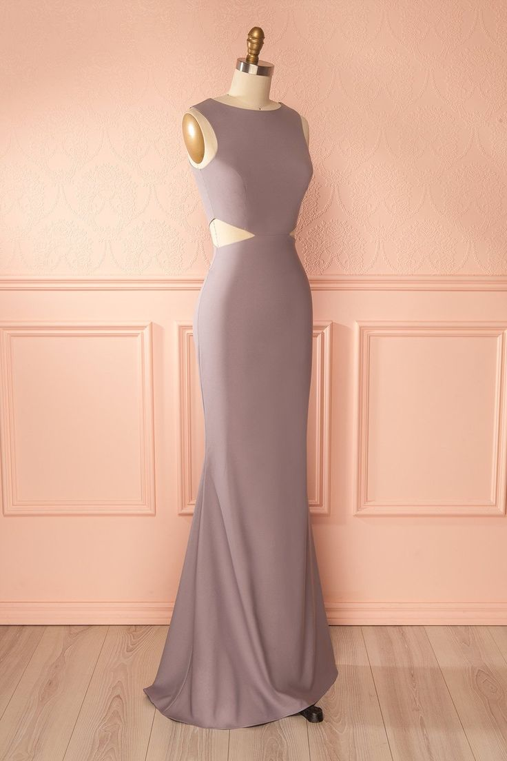 Vallata Moon Dusty Lavender Mermaid Gown with Cut-Outs | Boudoir 1861