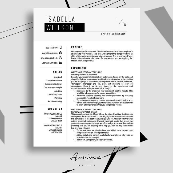cv cover letter template pdf