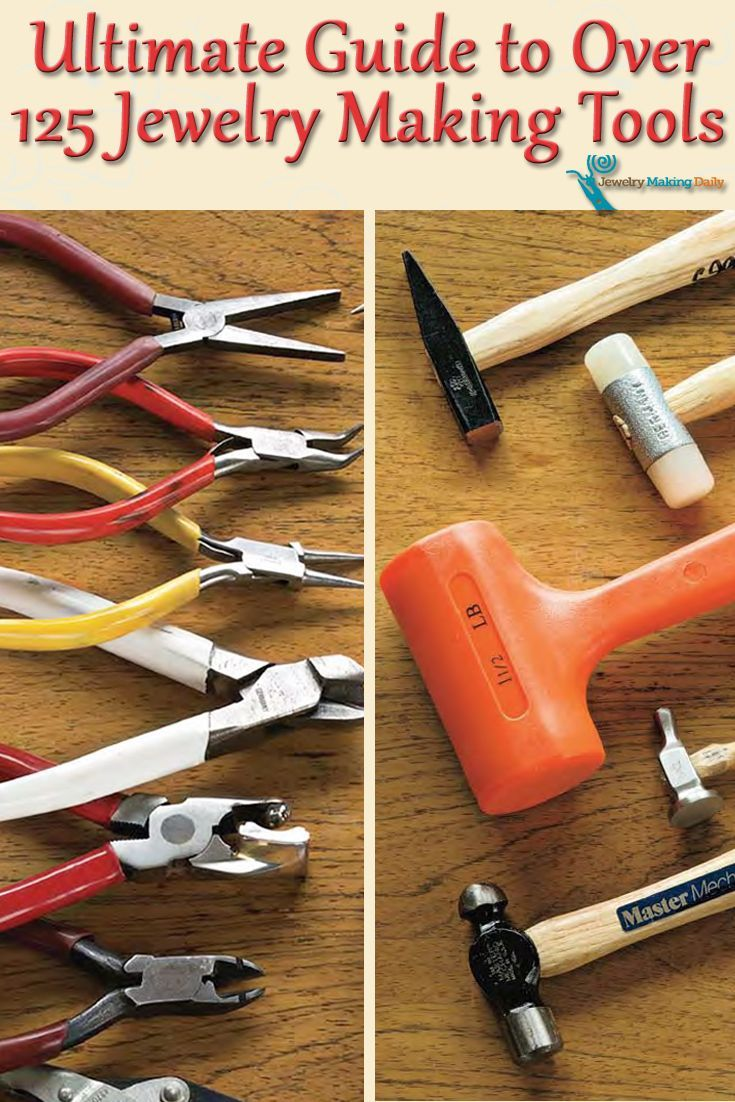 Ultimate, FREE guide to jewelry making tools you have to read that describes over 125 jewelry tools in detail! #jewelrymaking #diy