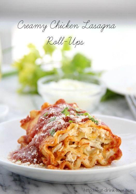 A meal the whole family will love - Creamy Chicken Lasagna Roll-Ups | Eat. Drink. Love.  #sponsored