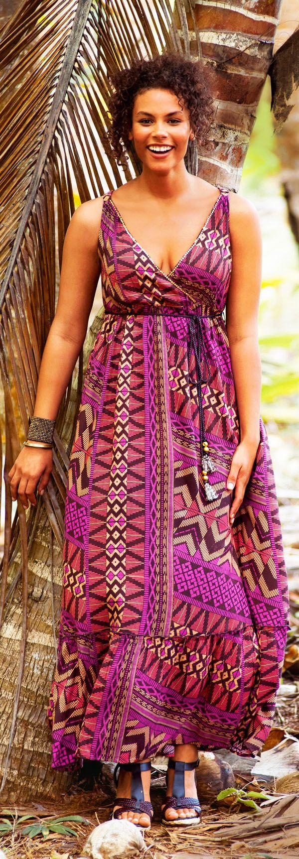 Plus size maxi hippie dresses - la redoute photo - CLICK TO READ at http://boomerinas.com/2012/07/boho-chic-hippie-clothes-plus-size-maxi-dresses/