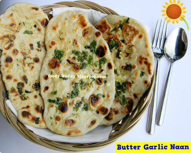 Butter Garlic Cilantro Naan / Naan recipe Without Yeast