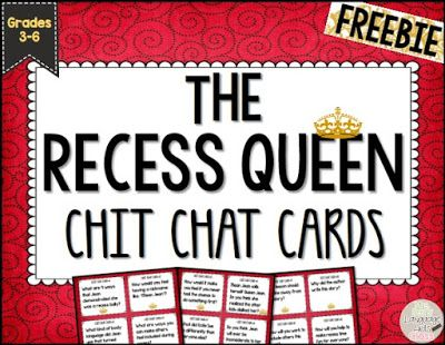 https://www.teacherspayteachers.com/Product/The-Recess-Queen-Chit-Chat-Cards-for-Grades-3-6-1988688