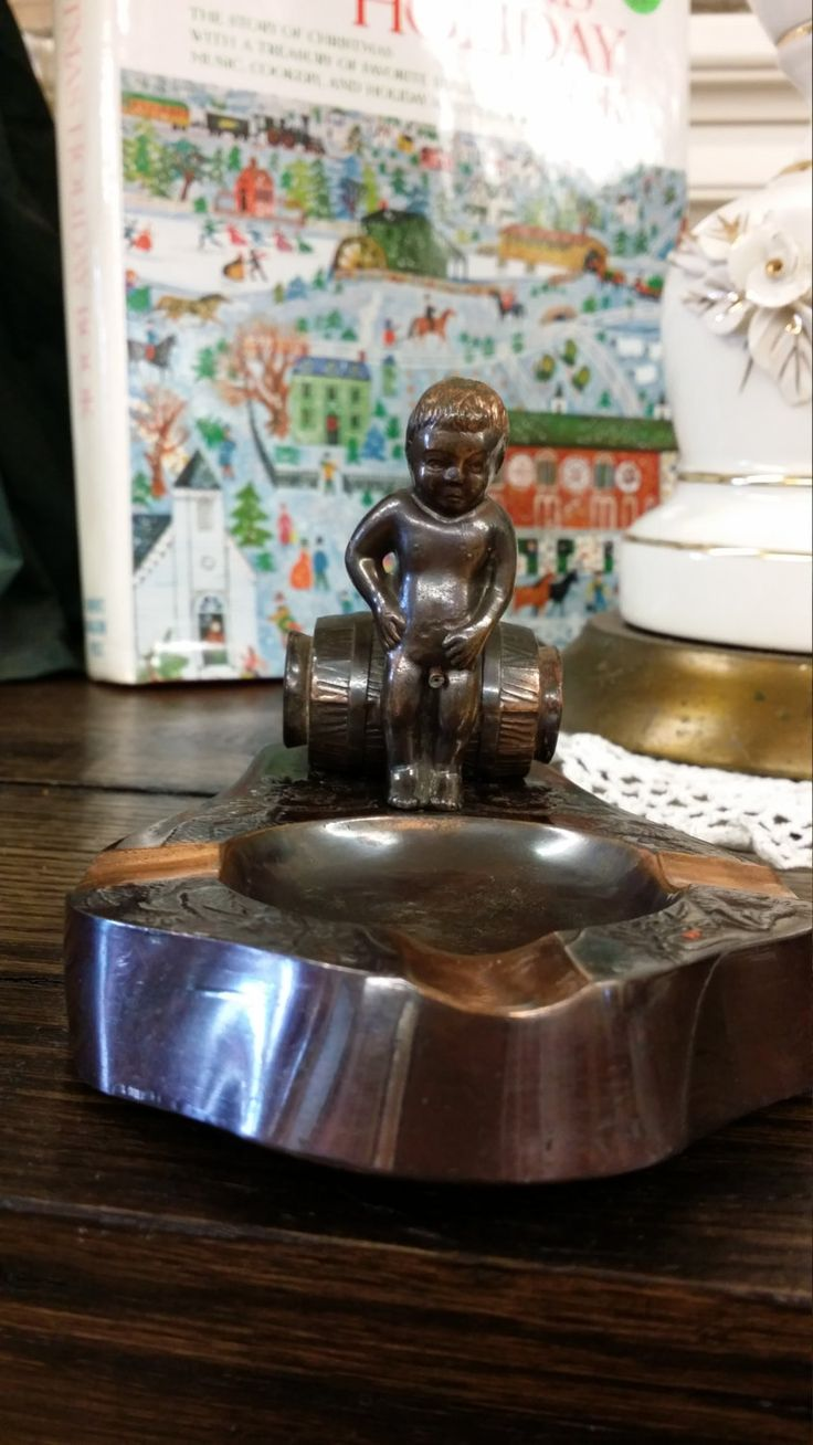 Vintage Copper Boy Peeing Ashtray by BlingAndBlueJeans on Etsy