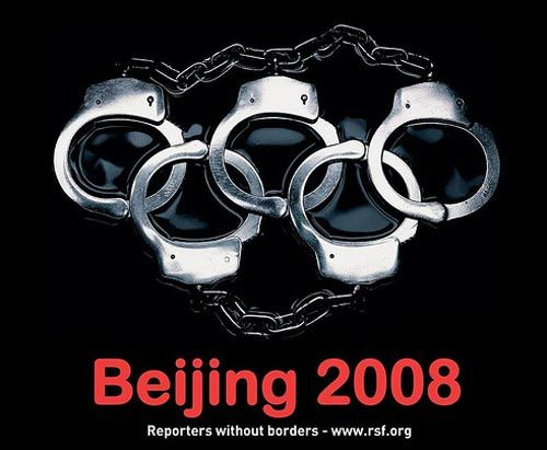 Beijing Olympic 2008 : Print Advertisement for Reporters Without Borders