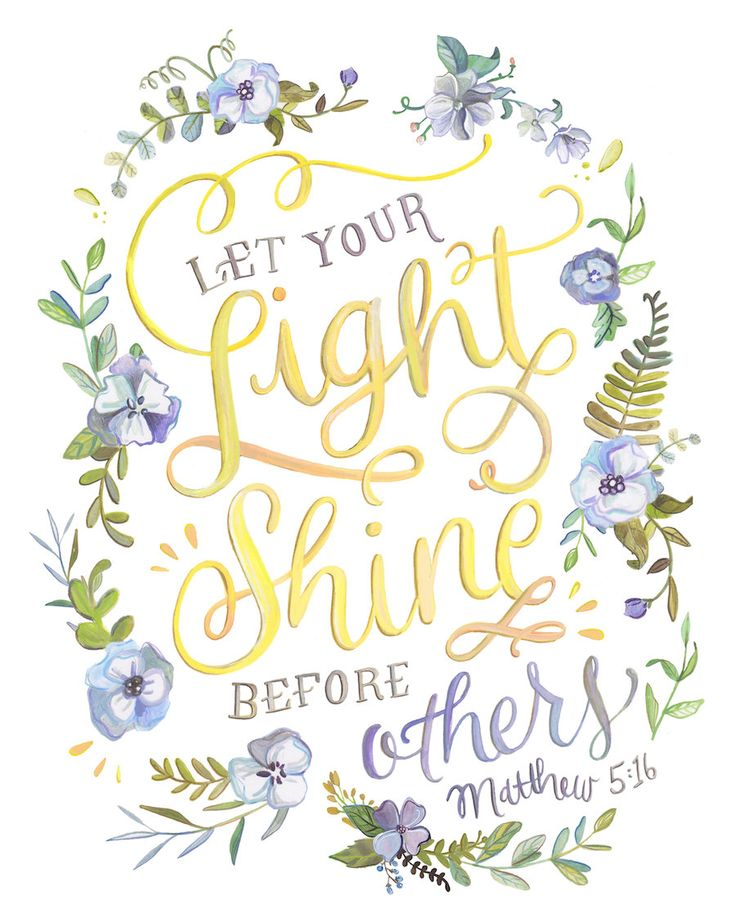 Let Your Light Shine Before Others Bible Verse Print by Makewells