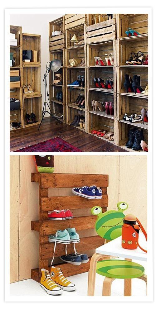 Con cajones de madera para un toque muy rústico o un palet en el cuarto de los niños, para ellos es lúdico y sencillo a la vez…