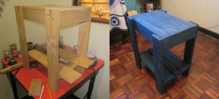 Mesa de noche hecha de palets cosas hechas por m - Mesa de palets bricolaje ...