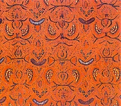 Semen Rante, Batik Solo design. The family of the girl receiving the proposal wears batik with Semen Rante motif. Rante, meaning chain symbolizes a close and binding relationship in conformity with the belief of Asians that breaking-off a relationship would damage the good name of the woman.