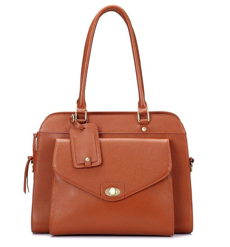 Lea Marie Leather Women Laptop Bag Business Tote - Brown