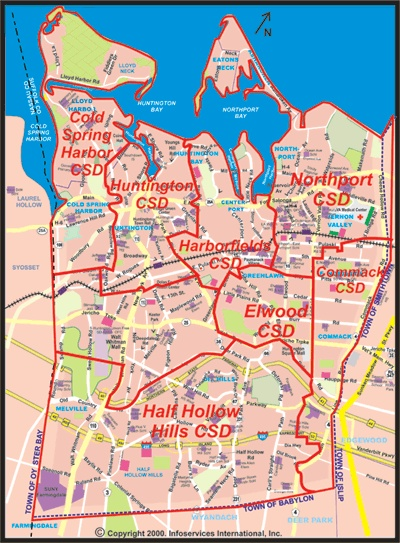 East Northport Long Island Map