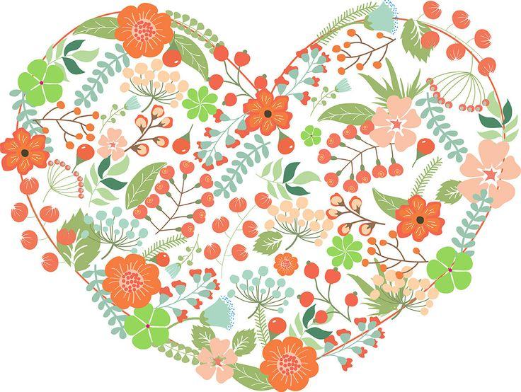 Flower heart by Orangepencil on Etsy