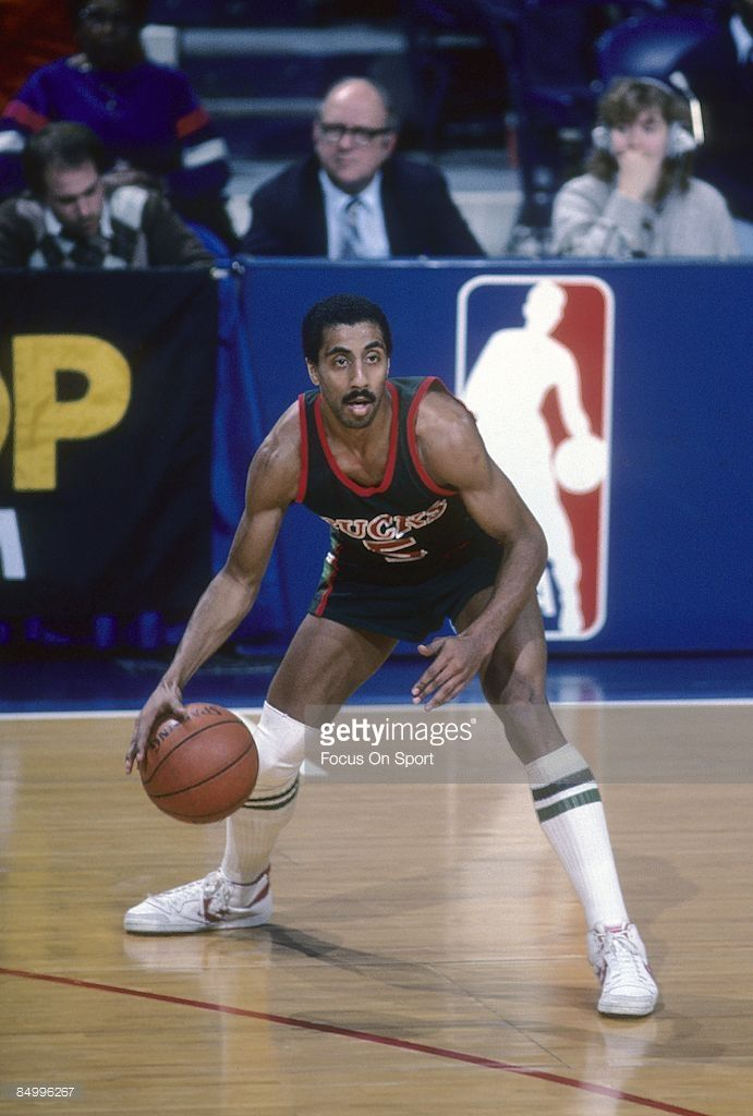 CIRCA 1980's: Lorenzo Romar #5 of the Milwaukee Bucks in action during a mid circa 1980's NBA basketball game. Romar played for the Bucks from 1983-85.