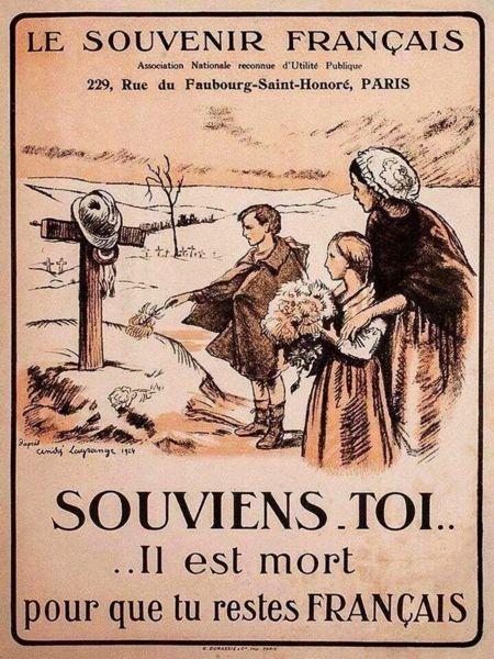 Le Souvenir Français. Souviens-toi... Il est mort pour que tu restes français !                                                                                                                                                                                 Plus