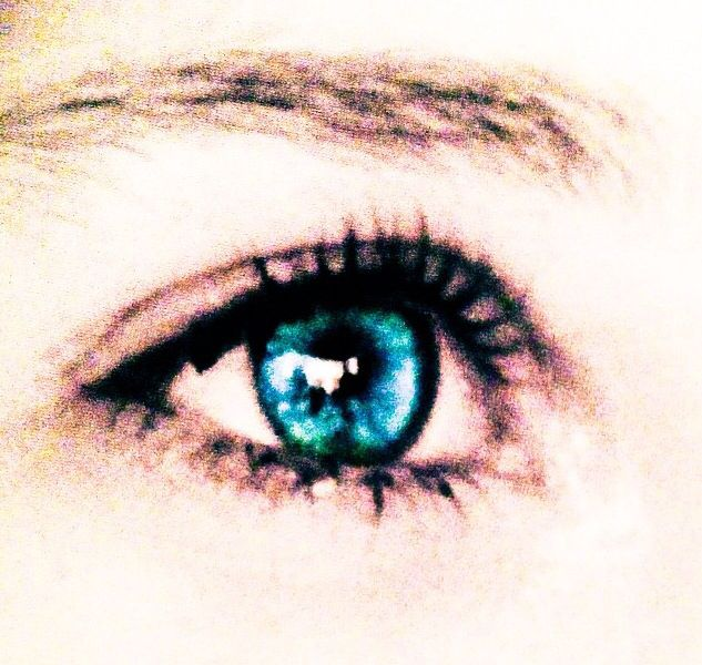 Beautiful Blue eyes ... My daughters...photo made by me... Mimi Bosman