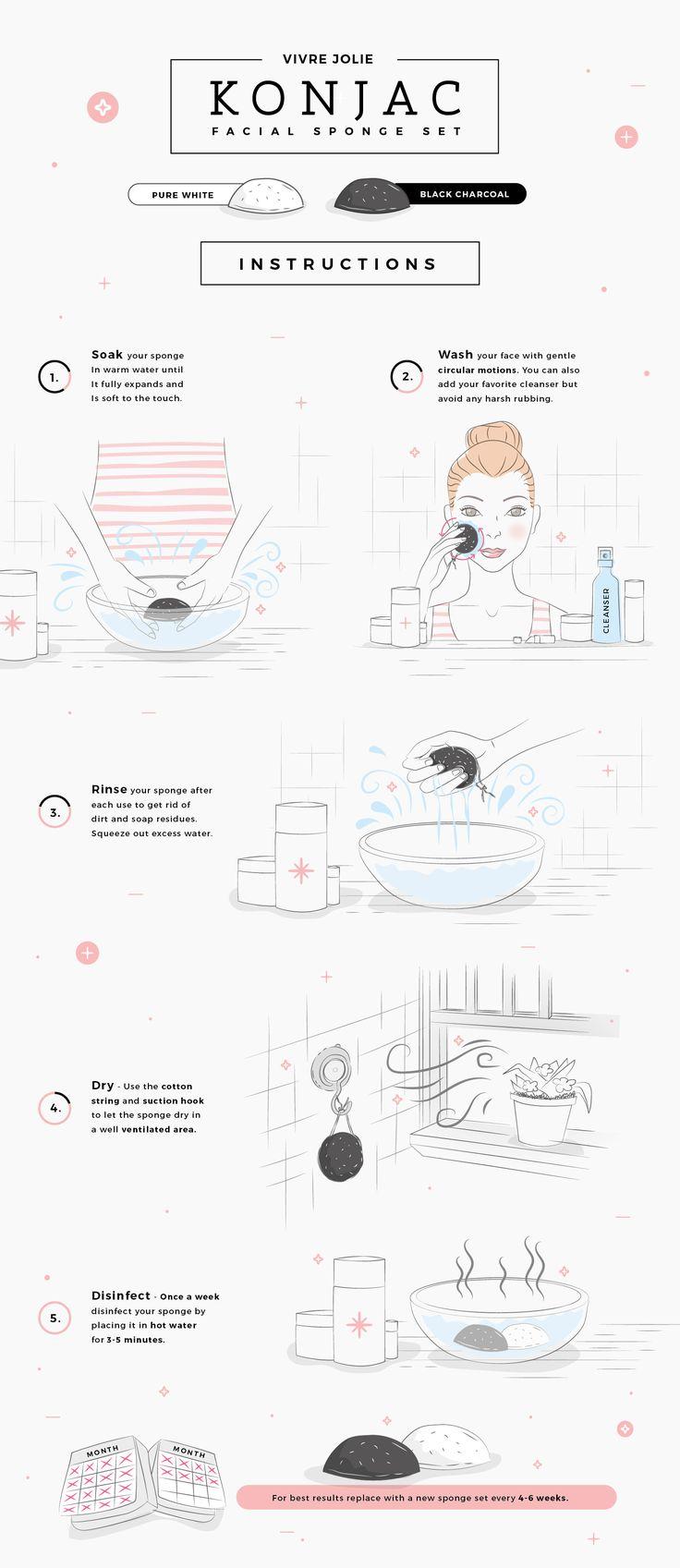 How To Use a Konjac Sponge to Cleanse & Exfoliate Your Skin  #konjacsponge