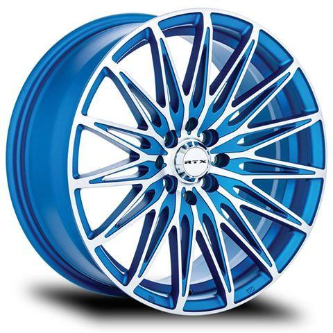 Nouveauté | New  RTX - Crystal  Grandeur | Size : 16X7 / 17X7.5 / 18X8  http://bit.ly/1RkcXil  Le modèle Crystal de la gamme RTX est disponible dans les diamètres les plus populaires et les entraxes les plus communs pour être compatible avec une grande quantité de véhicules sur le marché. Avec un fini unique bleu machiné et un design classique mélangeant les larges mailles et les rayons multiples, la roue Crystal offre un look qui se distingue du lot, tout en restant classique.  The Cr