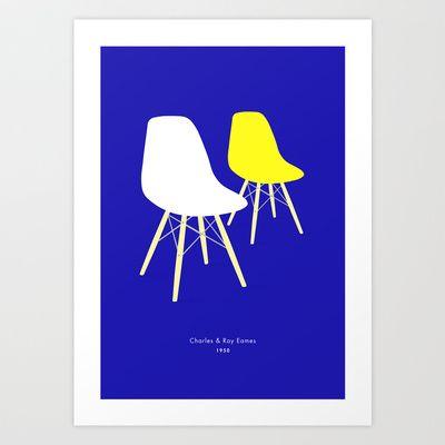 Eames x 2 #7 Art Print by bittersweat - $20.00